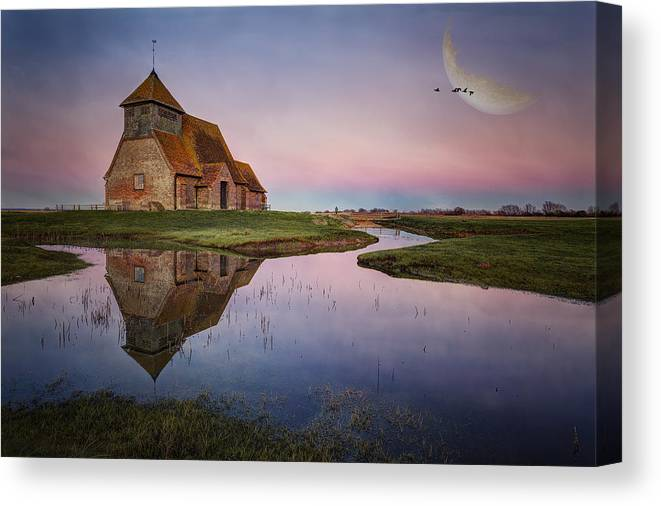 Fairfield Canvas Print featuring the photograph Fairfield Church by Nick Coombs