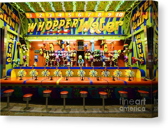 Whopper Water Canvas Print featuring the photograph Fairground Fun Sideshow 2 by Bob Christopher