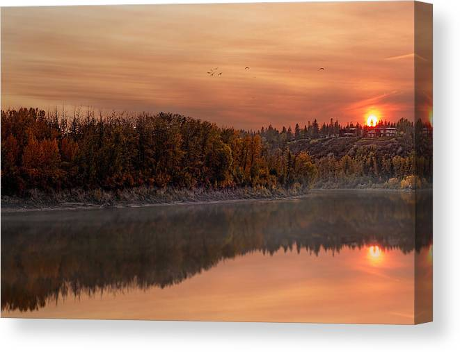 2014 Canvas Print featuring the photograph Fall Magic by David Waddington
