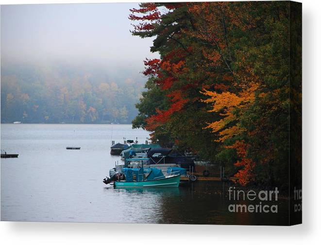 Fall Colors Canvas Print featuring the photograph Fall On Little Squam by Michael Mooney