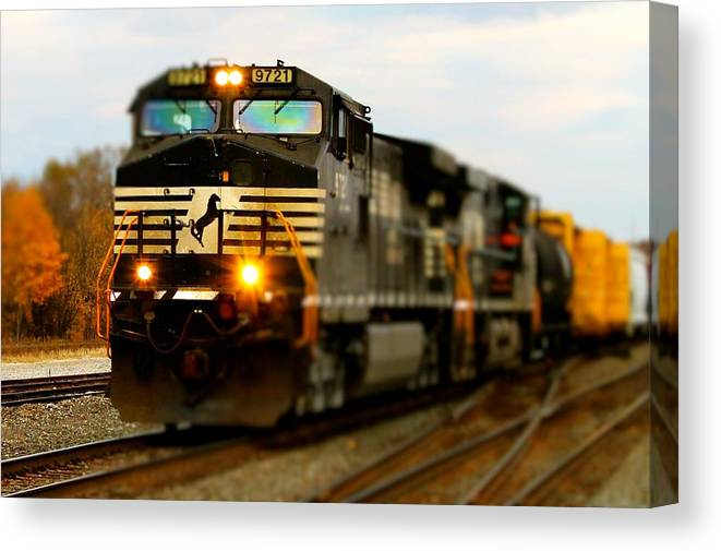 Train Canvas Print featuring the photograph Fall Train by Matthew Modena