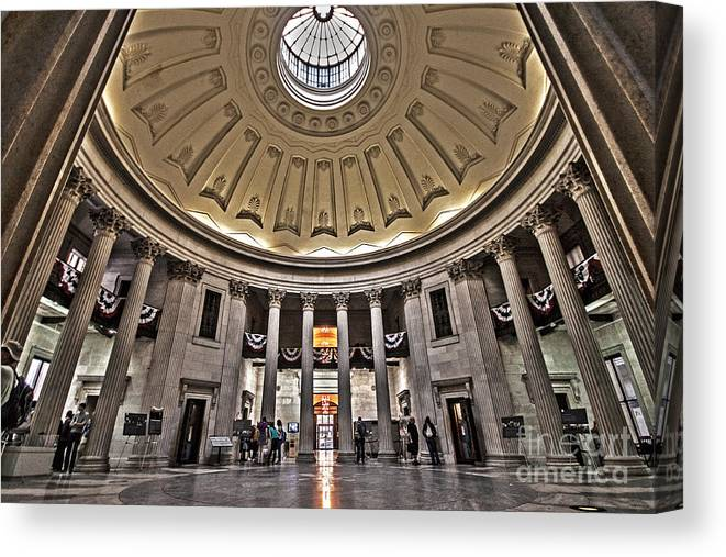 Federal Hall Canvas Print featuring the photograph Federal Hall New York by Shishir Sathe