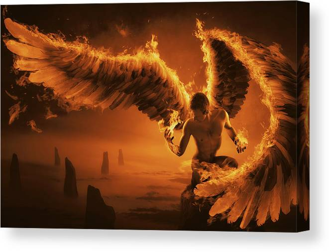 Fire Canvas Print featuring the photograph Fiery by Christophe Kiciak