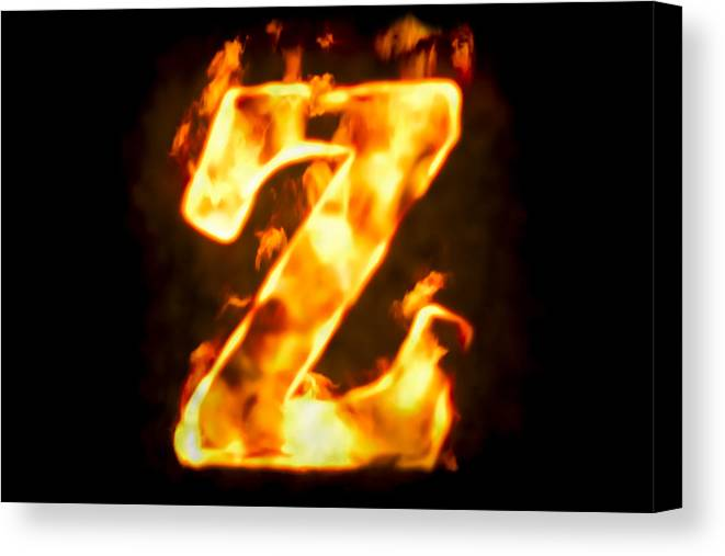 e945becdabf7 Concepts   Topics Canvas Print featuring the photograph Fire Letter Z Of  Burning Flame Light