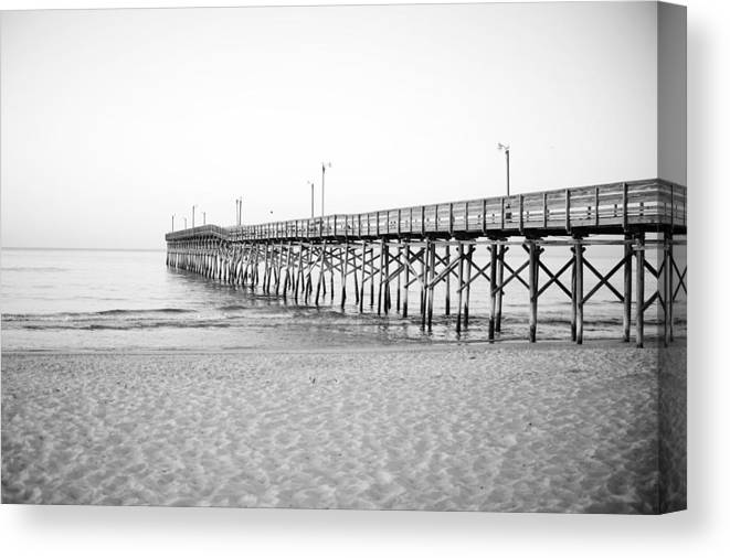 Pier Canvas Print featuring the photograph Fishing Pier by Katie Cawood