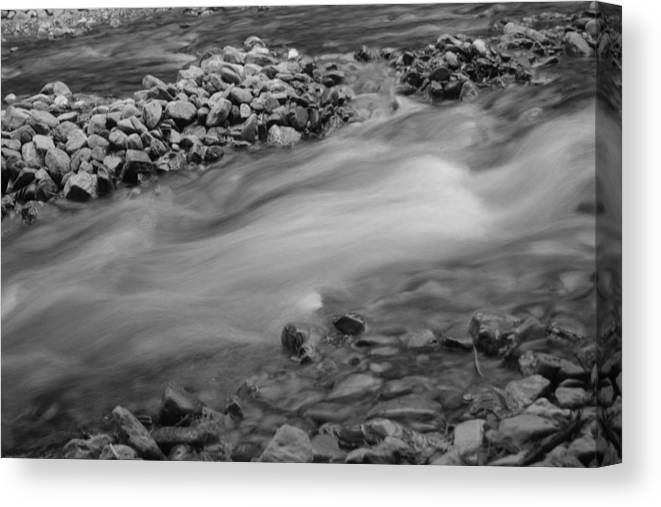 Stream Canvas Print featuring the photograph Flow - 1 by Jesse Chitwood