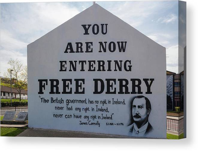 Photography Canvas Print featuring the photograph Free Derry Corner, Republican Political by Panoramic Images
