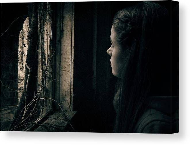 Window Canvas Print featuring the photograph Freedom's Gaze by Tommy Wallace