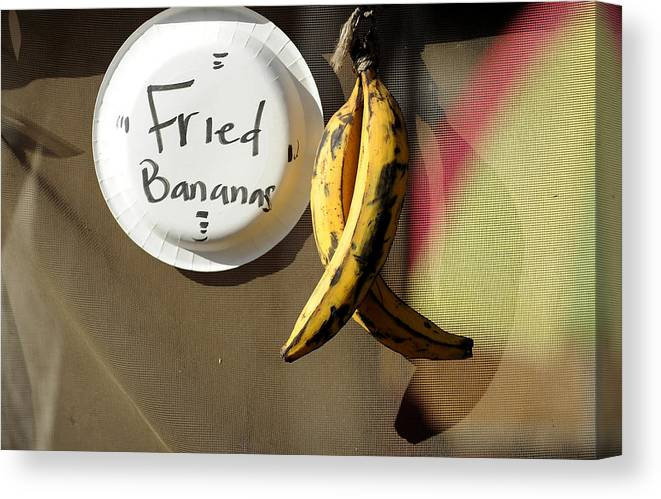 Bananas Canvas Print featuring the photograph Fried Bananas by Mark Sullivan