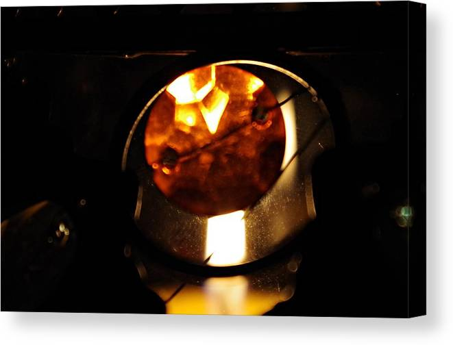 Glass Canvas Print featuring the photograph Glass And Flame by Sharon Popek