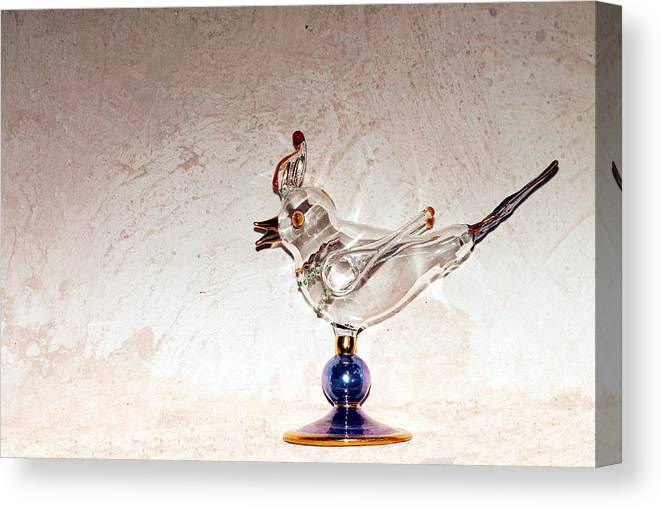Glass Bird Canvas Print featuring the photograph Glass Bird by Joseph Michael Hernandez