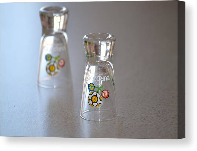 Glasses Canvas Print featuring the photograph Glasses by Claudia Filip