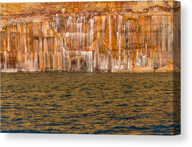 Pictured Rocks Canvas Print featuring the photograph God's Paintbrush by Calypso Pictures