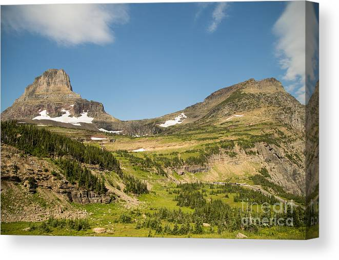 Going To The Sun Road Canvas Print featuring the photograph Going To The Sun Road From Highline Trail by Natural Focal Point Photography