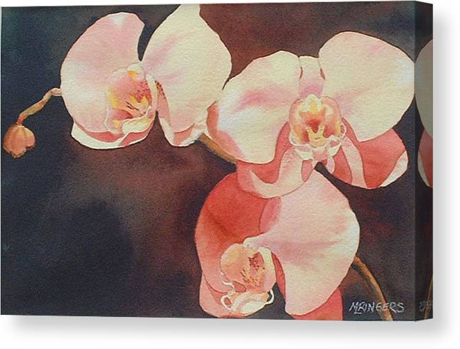 Floral Canvas Print featuring the painting Grande Battement by Mary Louise Ringers