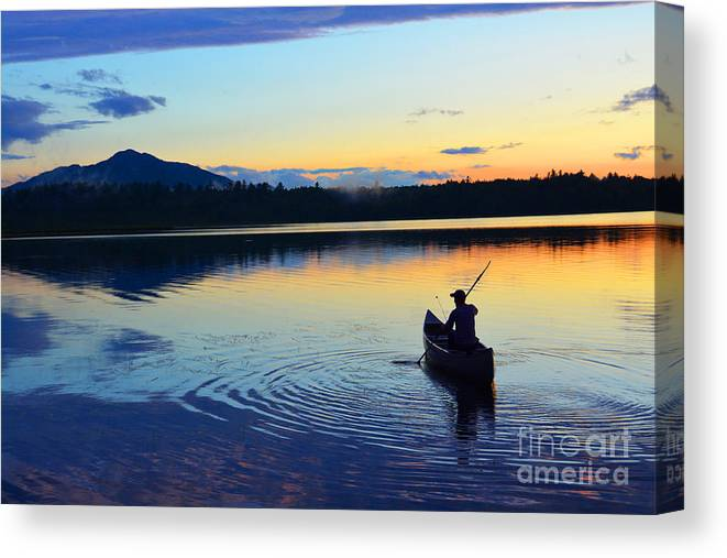 Heading Out At Sunset Canvas Print featuring the photograph Heading Out At Sunset by Christine Dekkers