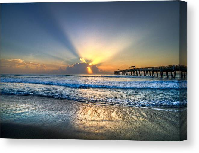 Palm Canvas Print featuring the photograph Heaven's Door by Debra and Dave Vanderlaan