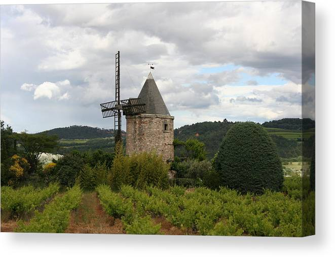 Mill Canvas Print featuring the photograph Historic Windmill by Christiane Schulze Art And Photography