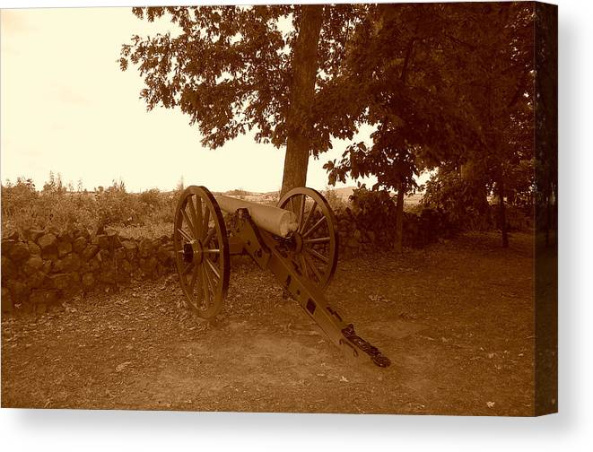Cannon Canvas Print featuring the photograph History by Chris Mcmannes