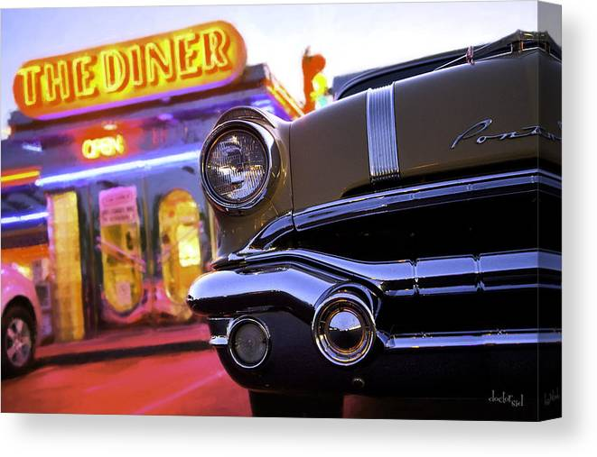 Diner Canvas Print featuring the photograph Hot August Nights by Doctor Sid