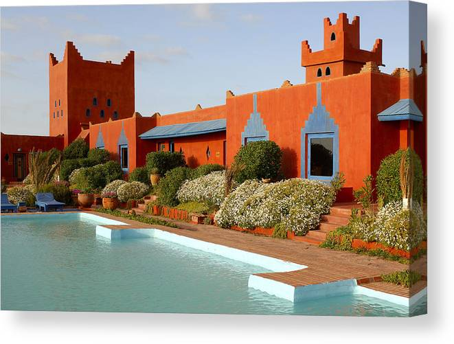 Africa Canvas Print featuring the photograph Hotel by Christian Heeb