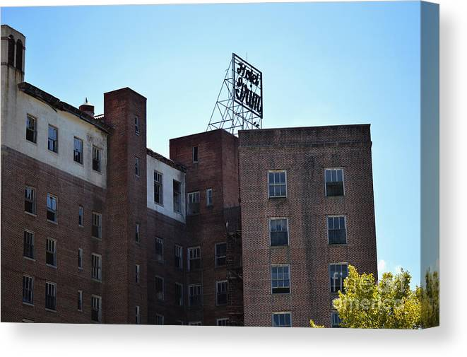Hotel Grim Canvas Print featuring the photograph Hotel Grim by Joel Wright