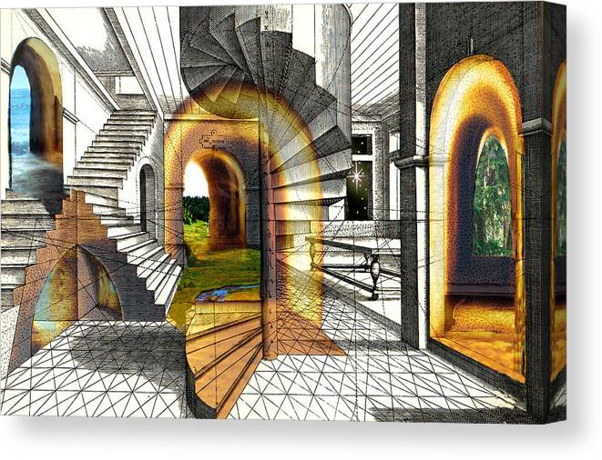House Canvas Print featuring the digital art House Of Dreams by Lisa Yount