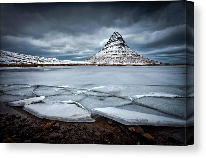 Kirkjufell Canvas Print featuring the photograph Ice-berg by Sus Bogaerts