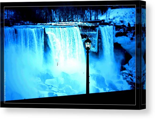 Niagara Falls Canvas Print featuring the photograph Ice Blue Falls by Al Fritz