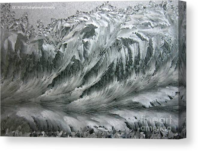 Hoarfrost Canvas Print featuring the photograph Ice Breaker Waves by Catherine Melvin