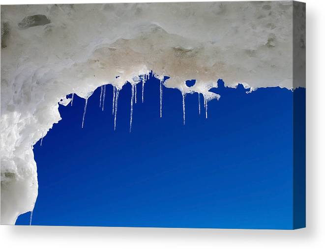 Lake Erie Canvas Print featuring the photograph Icicles by Kim French
