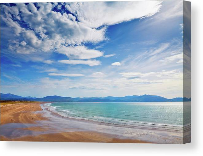 Photography Canvas Print featuring the photograph Inch Beach, Dingle Peninsula, County by Panoramic Images
