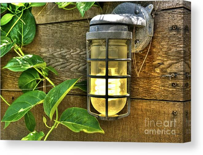 Venice Ca Canvas Print featuring the photograph Industrial Outdoor Light by David Zanzinger