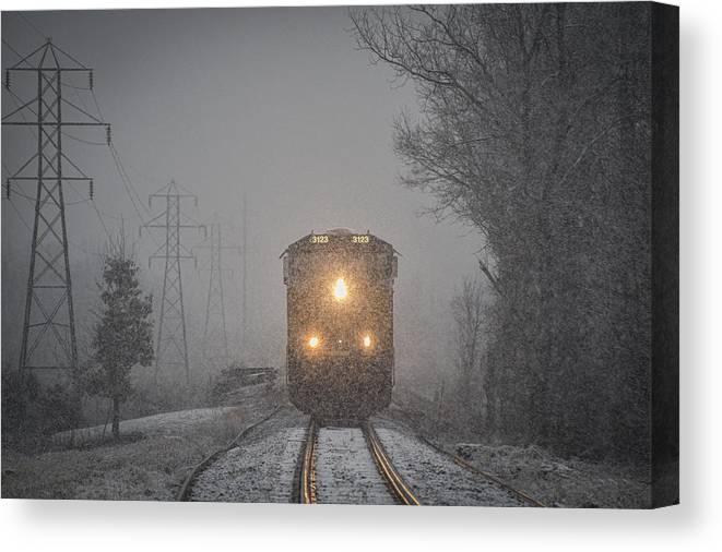 Csx Railroad Canvas Print featuring the photograph January 23. 2015 - Csx T103-2 by Jim Pearson