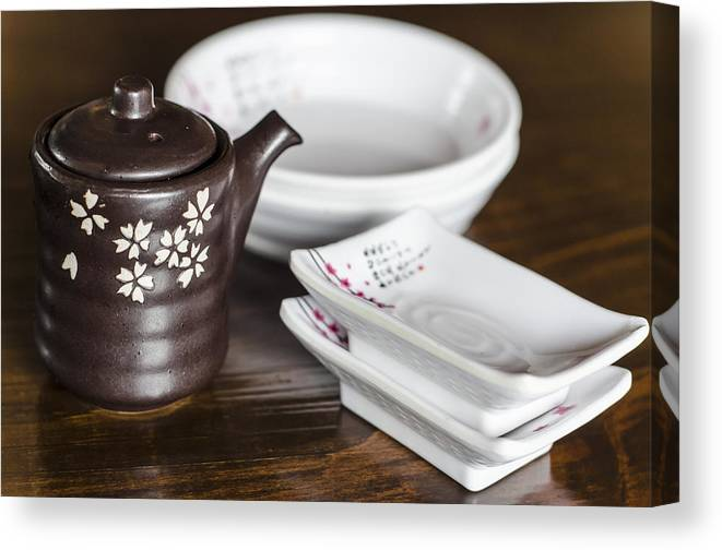 Japanese Canvas Print featuring the photograph Japanese Restaurant by Irene Theriau