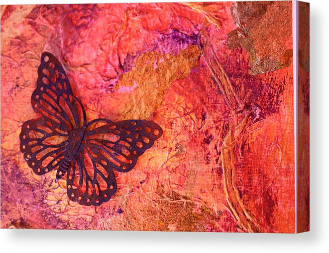 Butterfly Canvas Print featuring the photograph Joy In Flight by Shelly Sexton