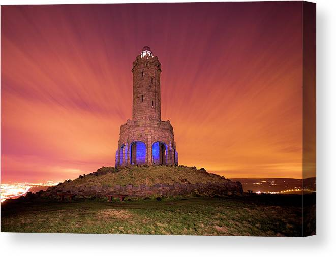 Jubilee Tower Canvas Print featuring the photograph Jubilee Tower At Night by Simon Booth/science Photo Library