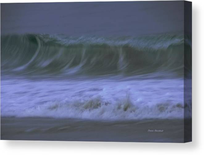 Ocean Canvas Print featuring the photograph Just A Whisper by Donna Blackhall