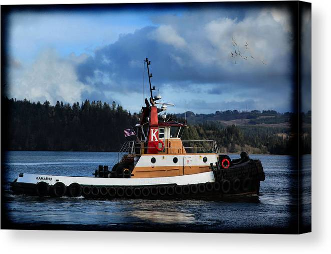 Tug Boat Canvas Print featuring the photograph Kamaehu Tug Boat by Sally Bauer