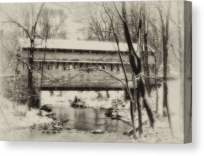 Knox Canvas Print featuring the photograph Knox Valley Forge Covered Bridge by Bill Cannon