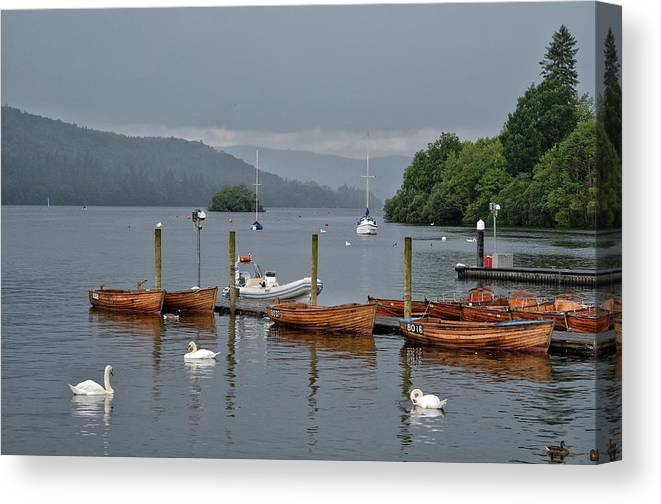 England Canvas Print featuring the photograph Lake Windermere by Michael Biggs