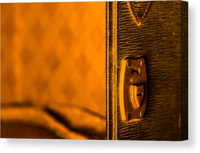 Vintage Suitcase Canvas Print featuring the photograph Latch by Lauri Novak