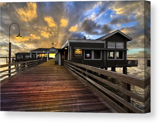 Clouds Canvas Print featuring the photograph Latitude 31 by Debra and Dave Vanderlaan