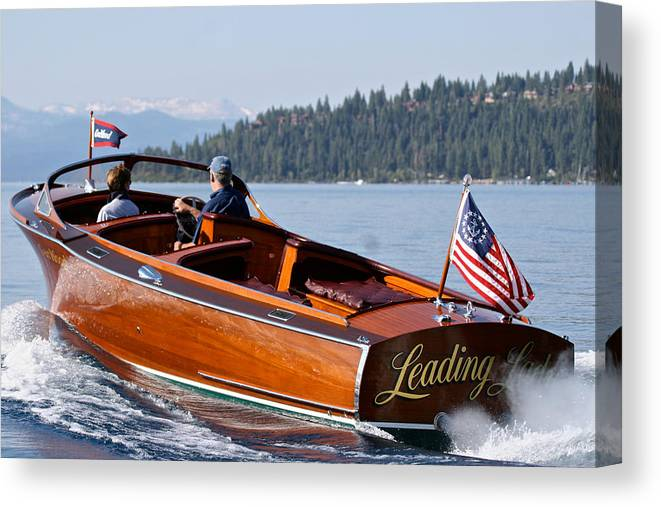 Skiff Canvas Print featuring the photograph Leading Lady by Steven Lapkin