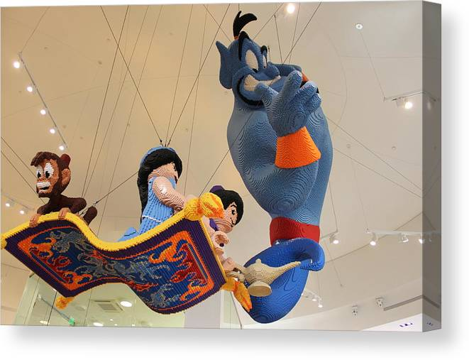 Disney Canvas Print featuring the photograph Lego Aladin by Mary Ann Yabes