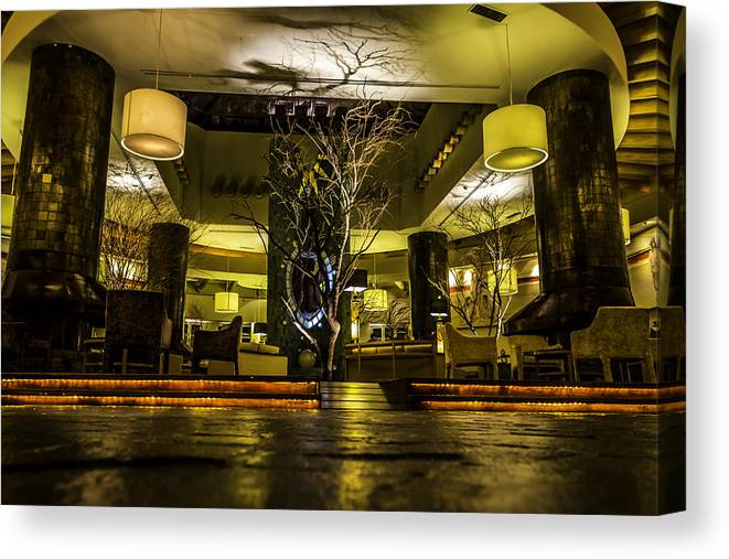 Lobby Canvas Print featuring the photograph Lobby by Angel Lares