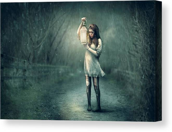 Lamp Canvas Print featuring the photograph Lost by Kt Allen