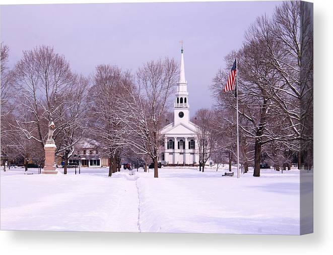 Guilford Green Canvas Print featuring the photograph Lots Of White by Catie Canetti