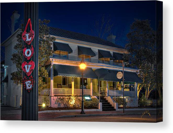 Smithfield Canvas Print featuring the photograph Love Smithfield Inn by Williams-Cairns Photography LLC