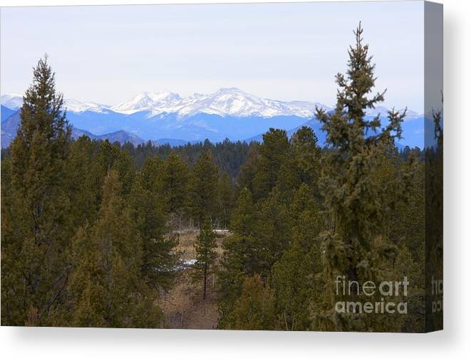 Beautiful Canvas Print featuring the photograph Lovell Gulch Hiking Trail by Steve Krull